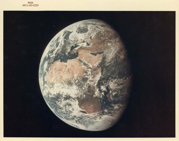 Zemlja iz svemira, jul 1969.