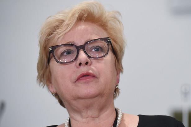 Pierwsza prezes Sądu Najwyższego Małgorzata Gersdorf podczas konferencji prasowej