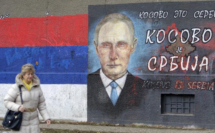 Putin, grafit, Beograd