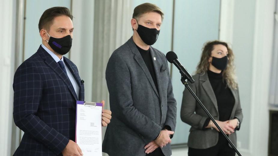 Paweł Krutul, Andrzej Rozenek i Monika Pawłowska