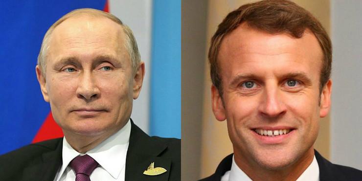 Vladimir Putin i Emanuel Makron