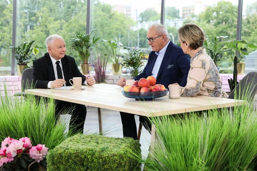 Jarosław Kaczyński, Michał Olszewski i Monika Zamachowska