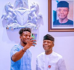 Silas Adekunle and VP Yemi Osinbajo in Abuja (Presidency)