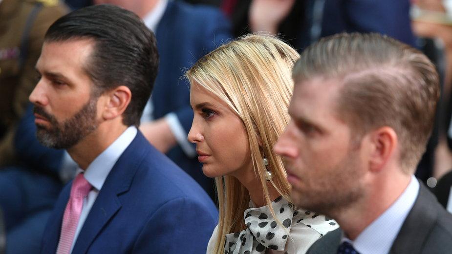 Donald Trump Junior, Ivanka Trump i Eric Trump