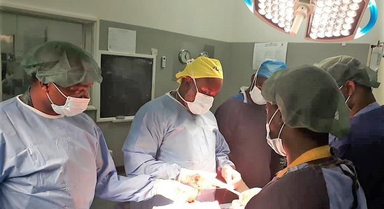 Meet Zambian Doctors who successfully operated on a patient who could not eat or swallow anything, even saliva for close to 4 years.