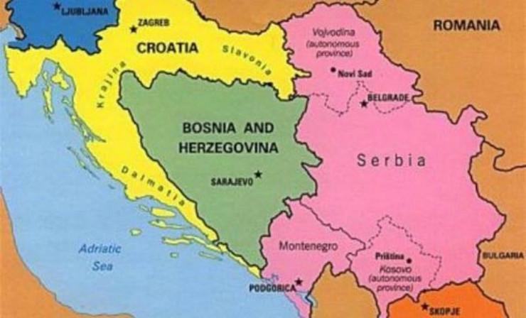 karta jugoslavija