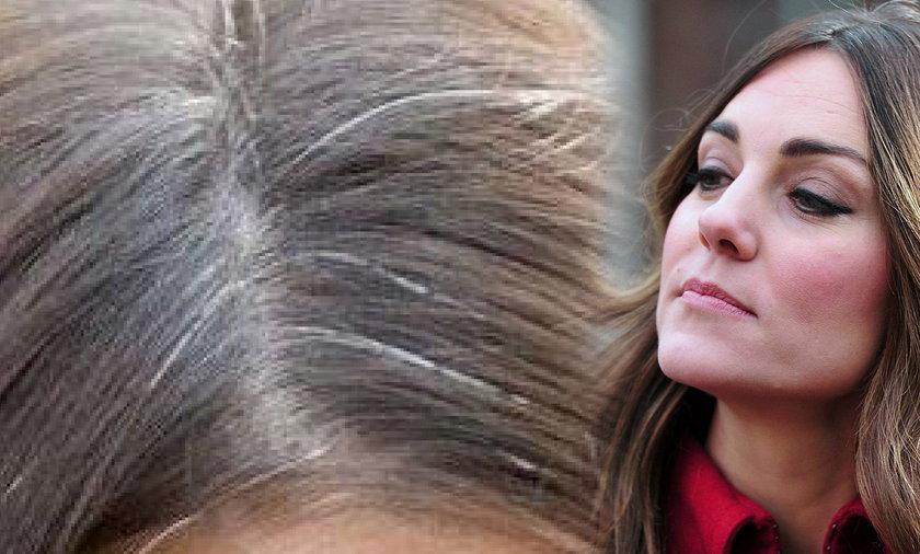 księżna kate ma siwe włosy