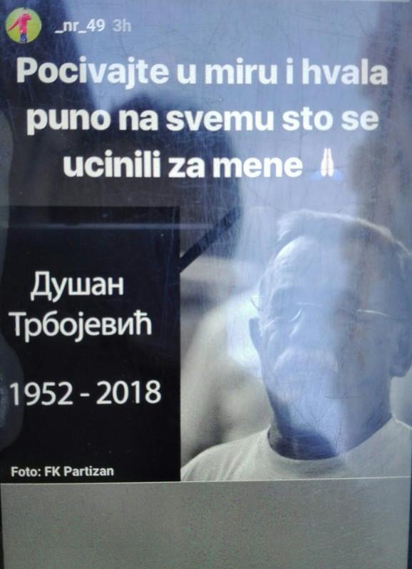 Poruka Nemanje Radonjića na Instagramu