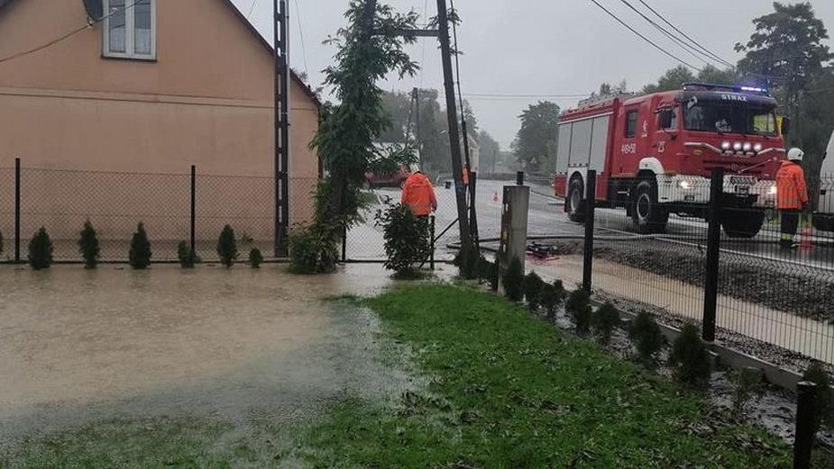 Skutki intensywnych opadów deszczu w powiecie gorlickim