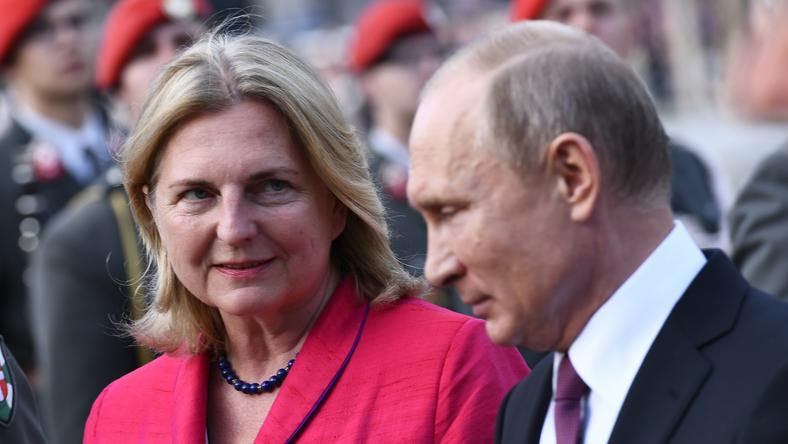 Karin Kneissl i Władimir Putin