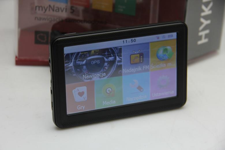 Nawigacja z Biedronki myNavi 5 - główne menu urządzenia
