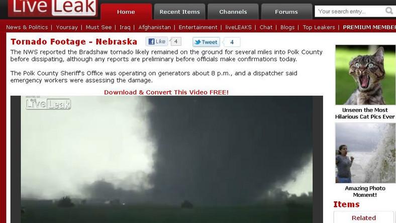 Tornado w Nebrasce
