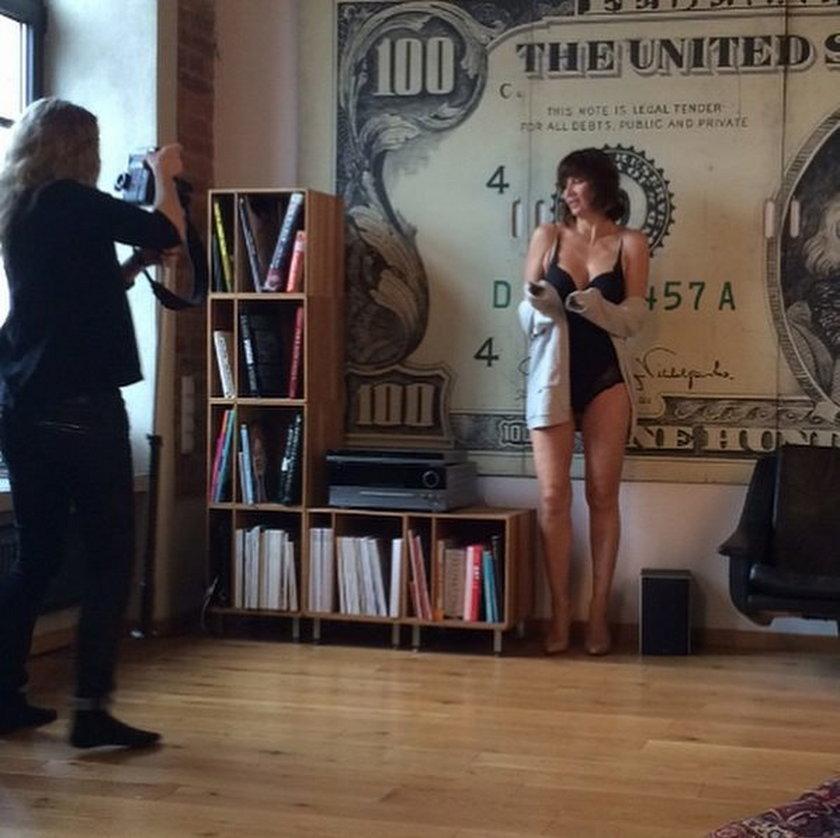 Grażyna Wolszczak w bieliźnie na sesji zdjęciowej