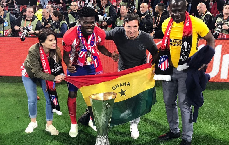 First Ghanaian to win the Europa League, Thomas Partey is thankful to God