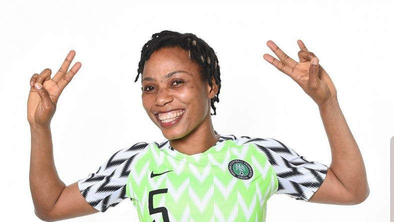 Onome Ebi has pledged to give one per cent of her football earnings to help young people around the world through football charities (Twitter/Onome Ebi)