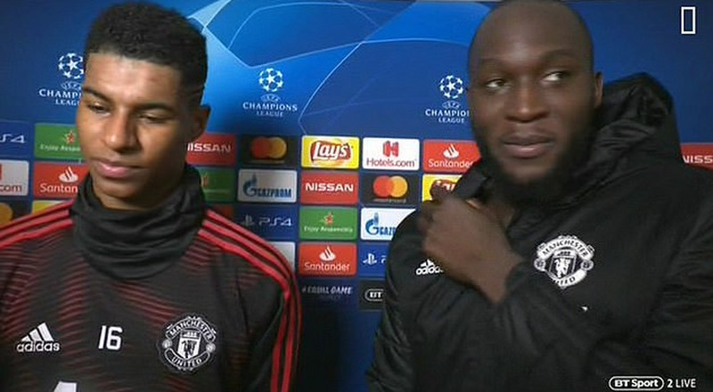 Pogba crashes interview with Rashford and Lukaku to celebrate Manchester United's win against PSG