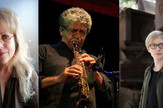 Kompozitori CrossOpere Jasmina Mitrušić Đerić (Srbija), Luiđi Ćinkve (Italija) i Valentin Rokebir (Nemačka)