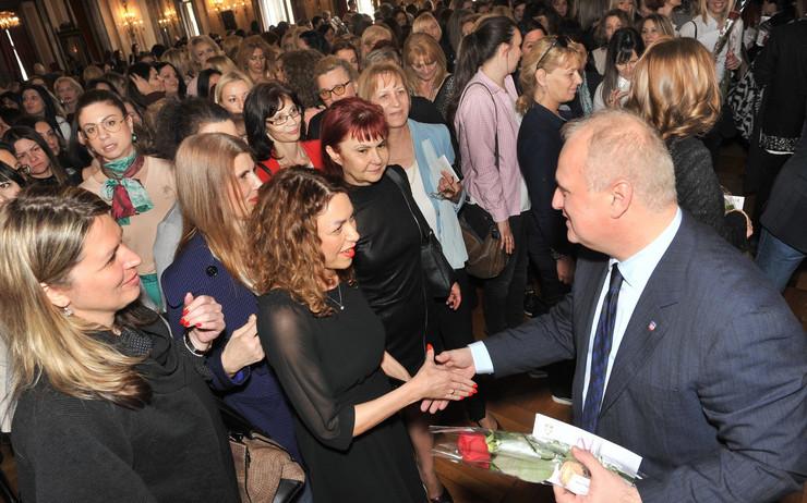 Osmi mart, prijem, žene u Gradskoj upravi i Goran Vesić