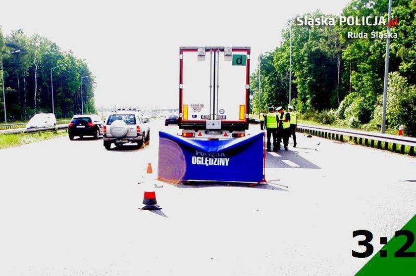 Wypadek na A-4 w Rudzie Śląskiej
