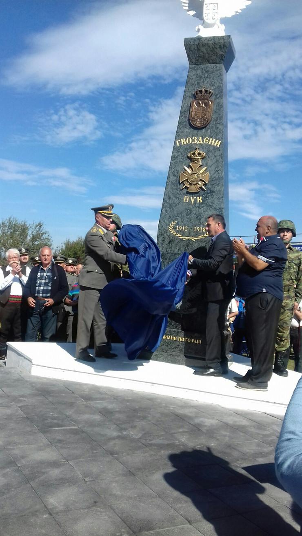 PROKUPLJE otkrivanje spomenika borcima Gozdenog puka foto ljm