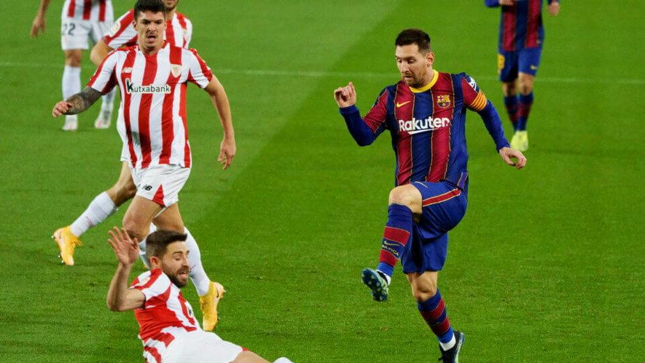 Lionel Messi w lutowym meczu z Athletikiem