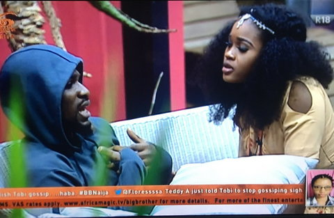 Cee-C and Tobi having one of their fights