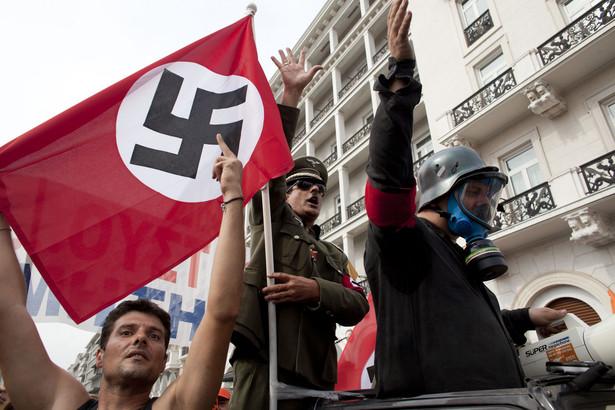 Protesty Greków, podczas wizyty Angeli Merkel.