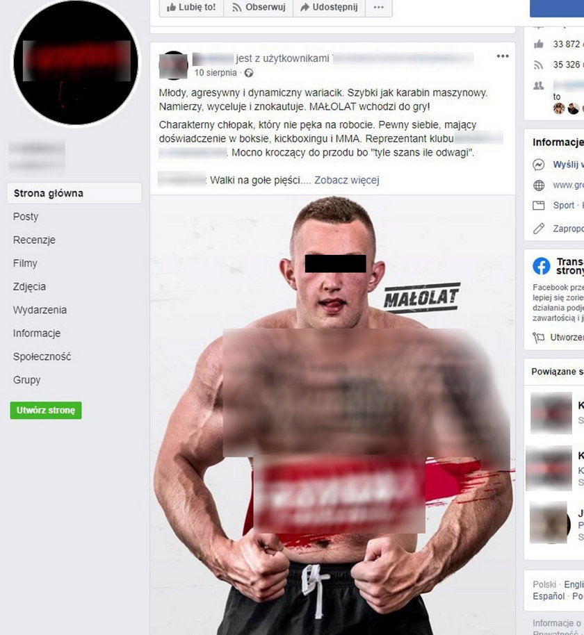 Zawodnik MMA zatrzymany za napad na kobietę