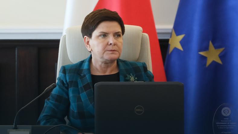 Premier Beata Szydło przed posiedzeniem Rady Ministrów