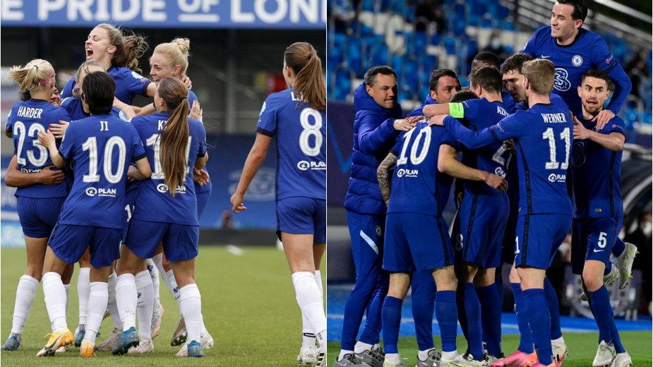 Piłkarki i piłkarze Chelsea świętują awans do finału Ligi Mistrzów