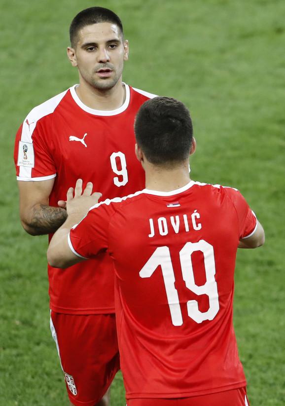 Aleksandar Mitrović i Luka Jović u dresu reprezentacije