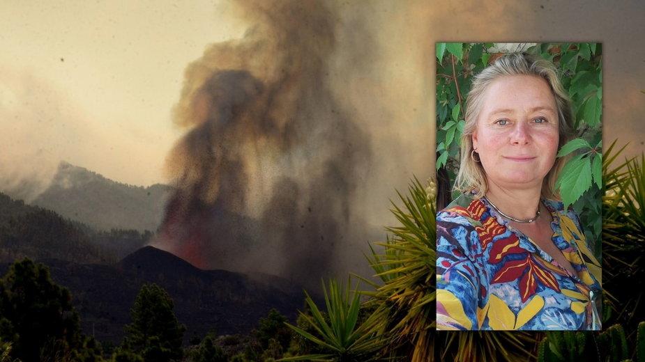 Wybuch wulkanu na La Palmie. Polka relacjonuje
