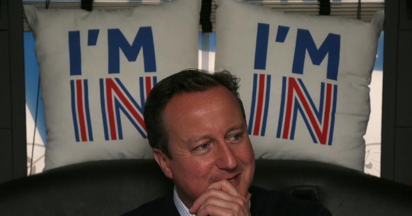 Brytyjski premier David Cameron podczas kampanii referendalnej
