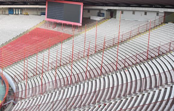 Navijači Napolija će biti smešteni u ovom ograđenom prostoru