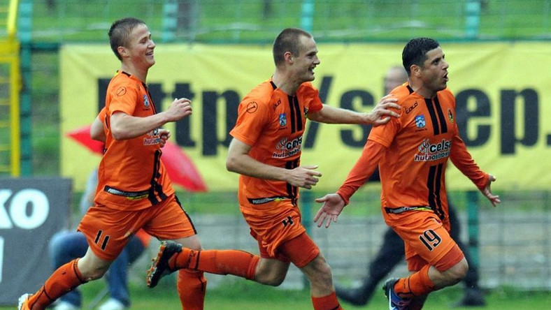 koniec maja KSZO Ostrowierc grało wyjazdowy mecz z GKS Katowice