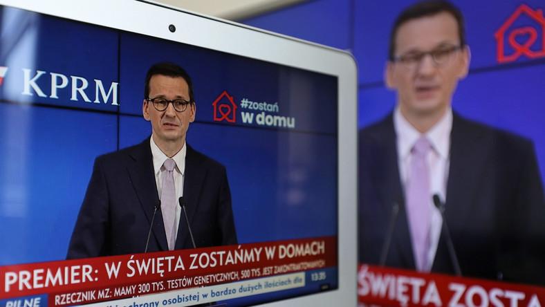 Koronawirus w Polsce. Transmisja konferencji prasowej premiera RP Mateusza Morawieckiego