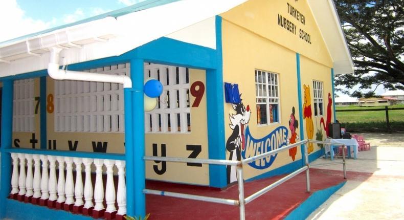 A pre-primary school in Kenya (Twitter)