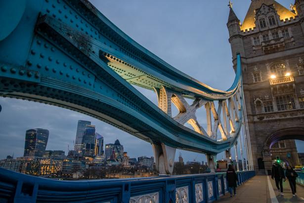 Tower Bridge, Londyn, Wielka Brytania. 8.03.2021