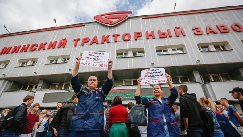 Białoruś. Protesty w zakładach państwowych