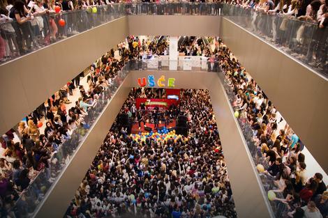 Tržni centar za vreme koncerta
