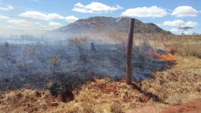 Fire razes down acres of land in Kenya's Tsavo conservation area