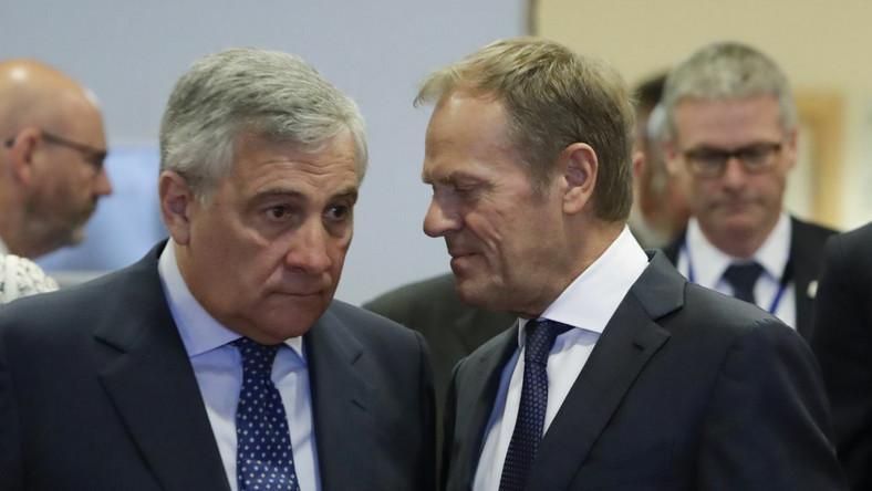 Donald Tusk i Antonio Tajani