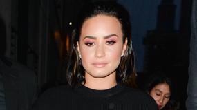 Demi Lovato w czerni na imprezie. Ależ ona ma figurę!