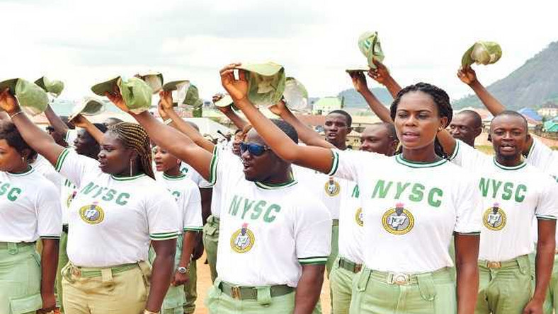 NYSC Corps members on parade (Worldstage)