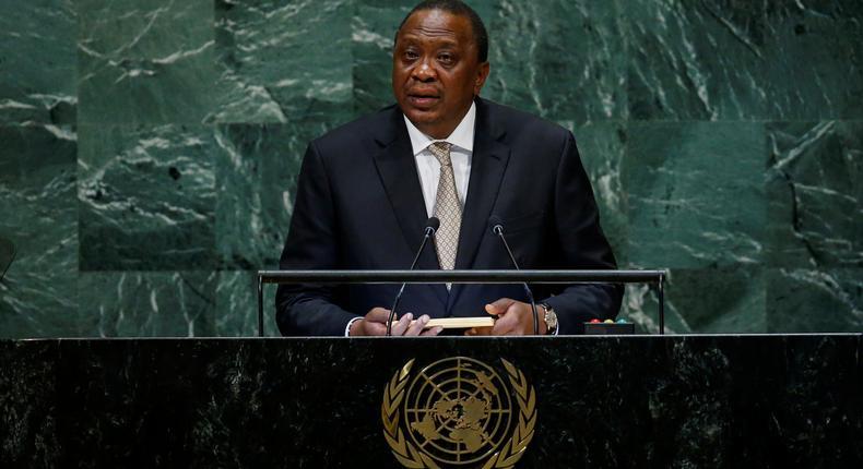 Kenya's President Uhuru Kenyatta addresses the 73rd session of the United Nations General Assembly at U.N. headquarters in New York, U.S., September 26, 2018.