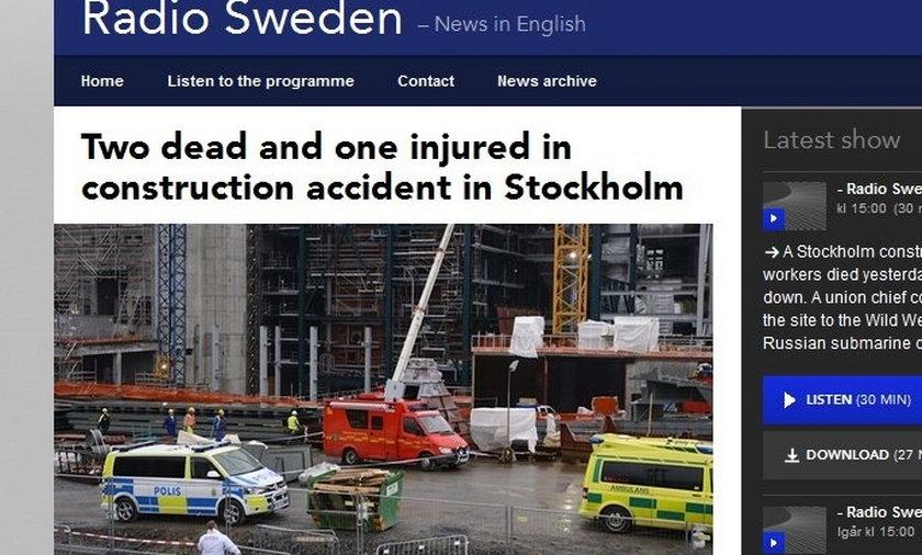Dwóch Polaków zginęło na budowie w Szwecji