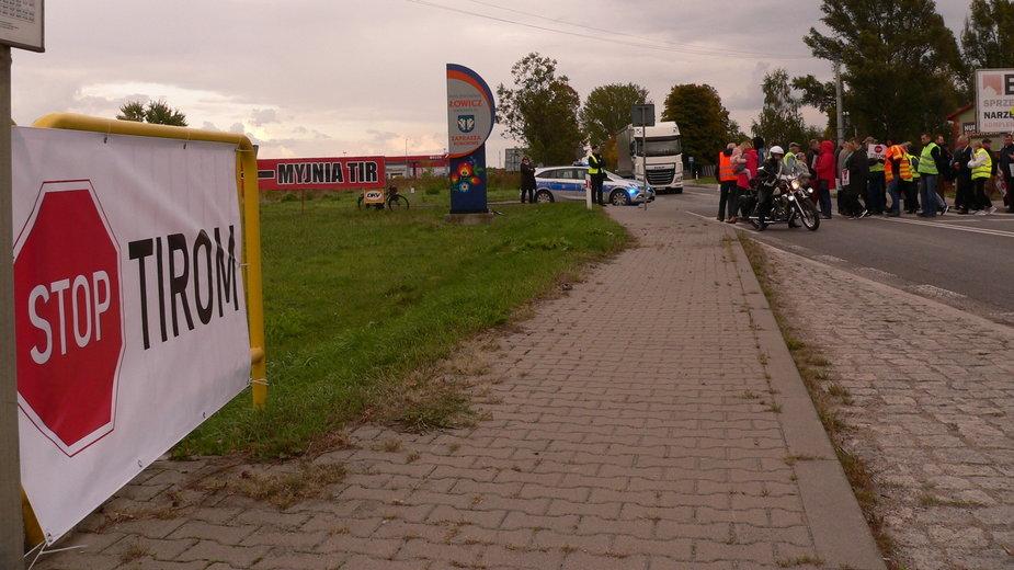 Zablokowana DK70 w Łowiczu