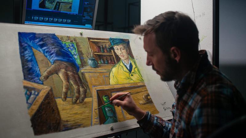 """Prace  nad filmem """"Twj Vincent"""""""