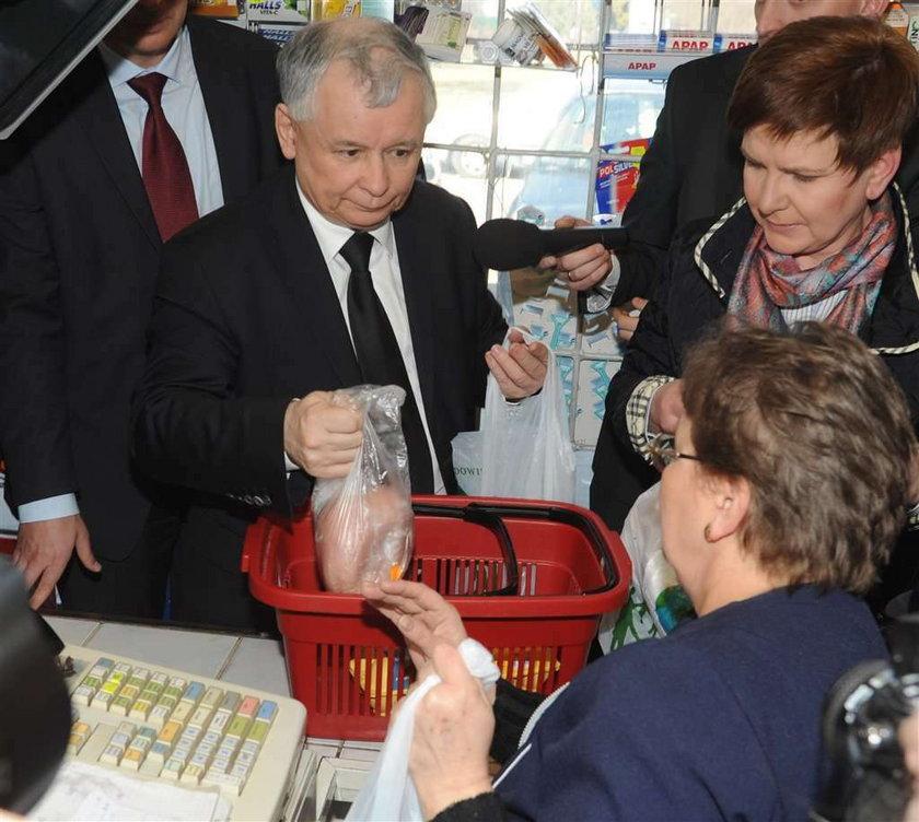 Kaczyński znowu ruszył na zakupy