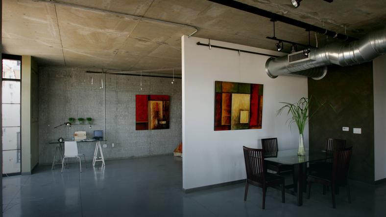 Modernistyczne Tynki dekoracyjne imitujące beton - Dom HP23